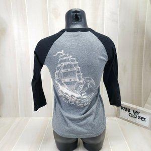 Tops - Women's Captain of The Vessel Raglan Shirt Gray XS